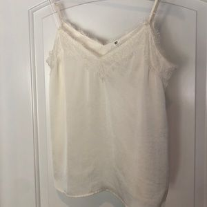 BP lace cami in ivory.